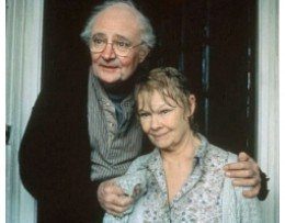 Jim Broadbent and Judi Dench in a scene from IRIS.