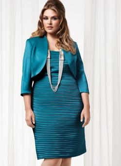 Laura Plus Blue Pleat Dress