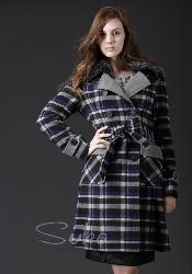 Plus Size Plaid Suka Winter Coat