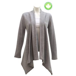 Plus Size Grey Asymetrical Cardigan