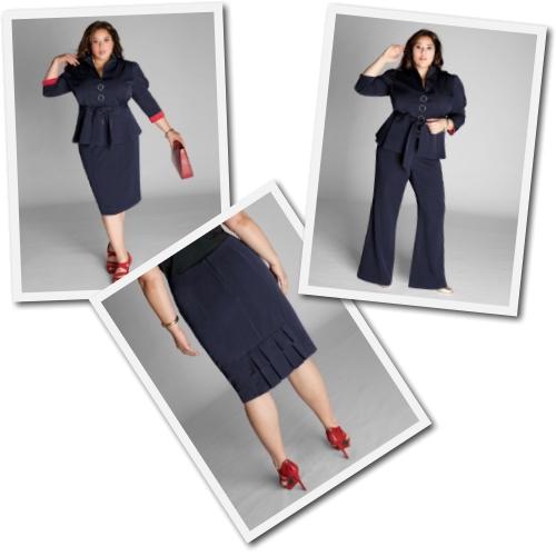 Plus Size Navy Suit (3 Piece) from Igigi
