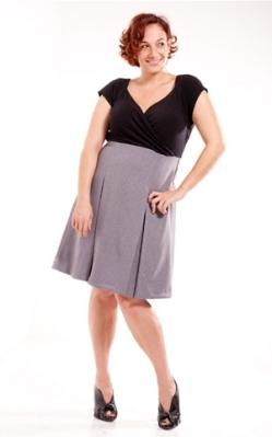 Plus Size Grey and Black Dress