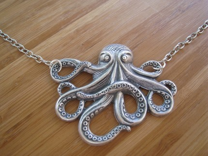 Sterling Silver Octopus