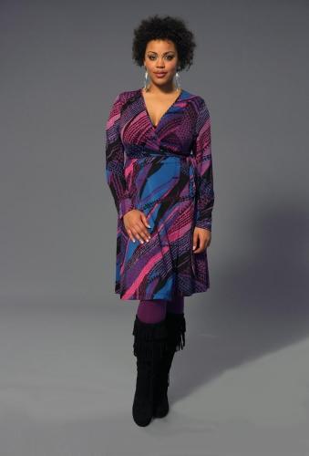 plus size wrap graffiti dress from Anna Scholz