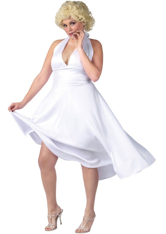 A version of the Marilyn Monroe white dress available in plus size from Buy Costumes.