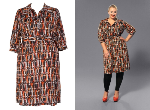 Plus Size Print Jersey Dress from Anna Scholz