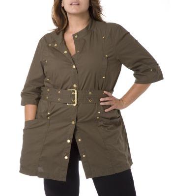khaki military jacket / dress