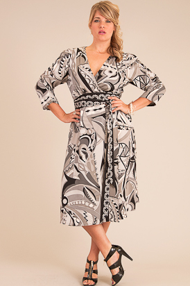 plus size silk print dress from anna scholz