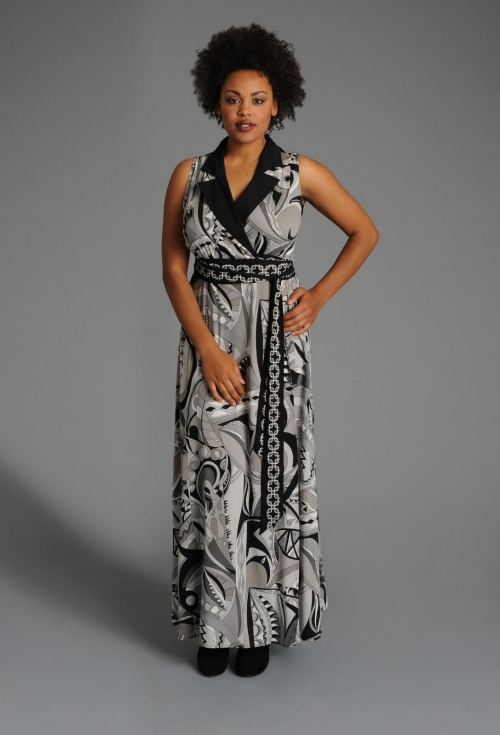 plus size patterned maxi dress from Anna Scholz