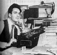 Saroyan William with rejection pile