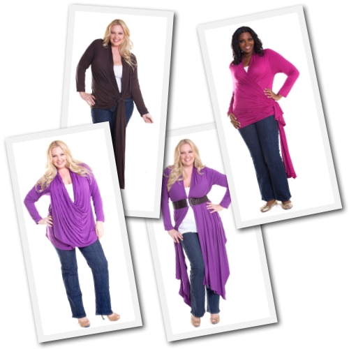 plus size convertible cardigan from SwakDesigns