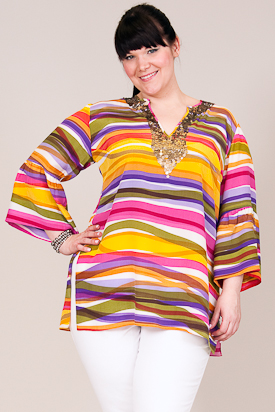 plus size silk tunic from Anna Scholz