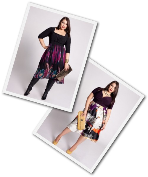 plus size block and print dresses from Igigi