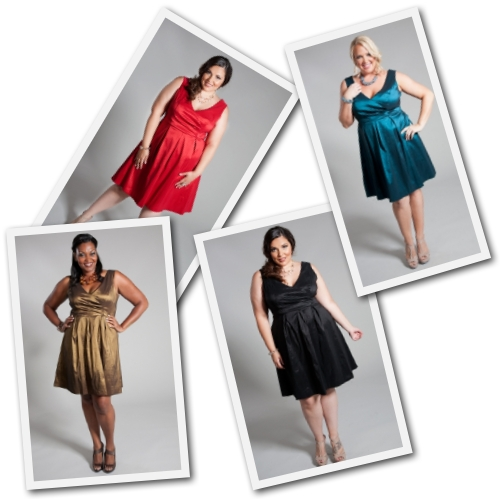 plus size holiday dresses from SwakDesigns