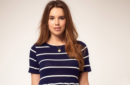 plus size navy and white striped dress from ASOS Curve