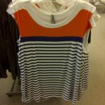 plus size striped tank top from Penningtons