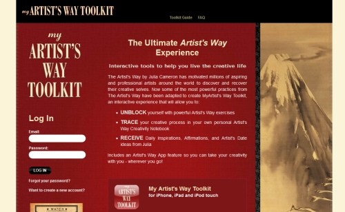 The Artist's Way Toolkit website