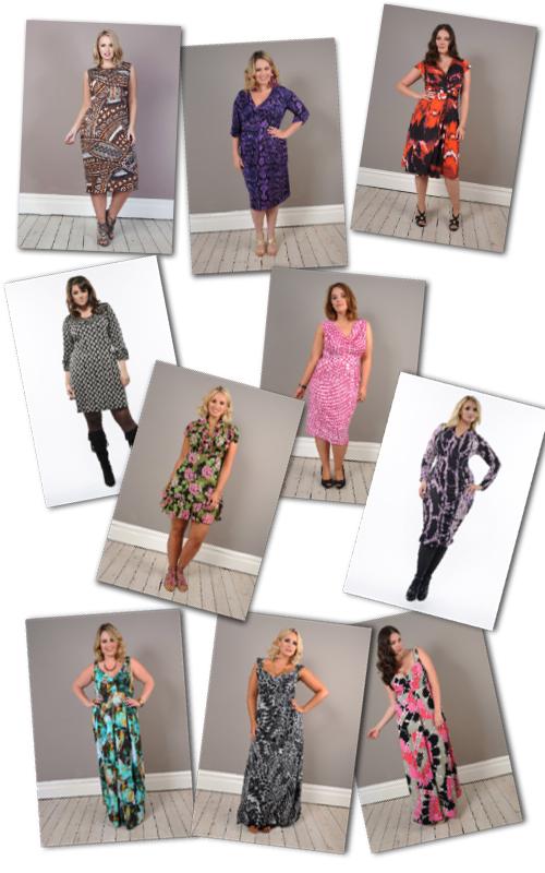 plus size print dresses by Anna Scholz