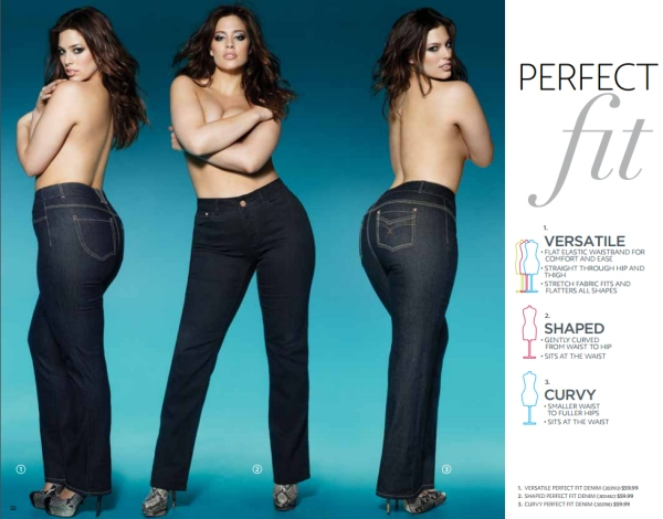 Perfect Fit Denim on Ashley Graham for Addition-Elle