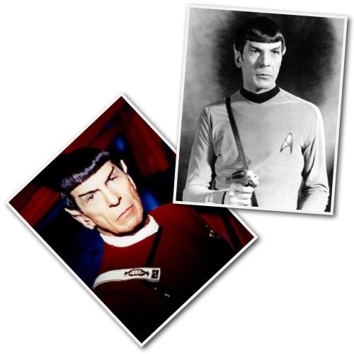 Leonard Nimoy as Mr. Spock on Star Trek.