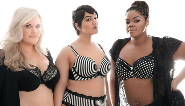 Plus size bloggers in lingerie for Addition-Elle.