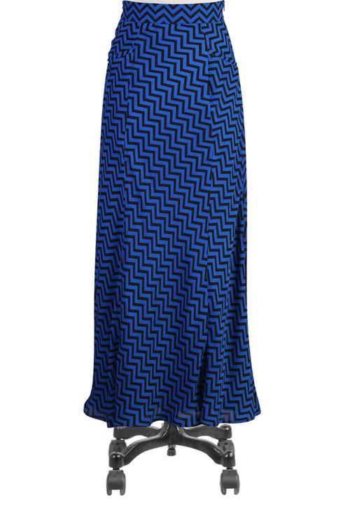 This chevron print long maxi skirt is from eShakti.