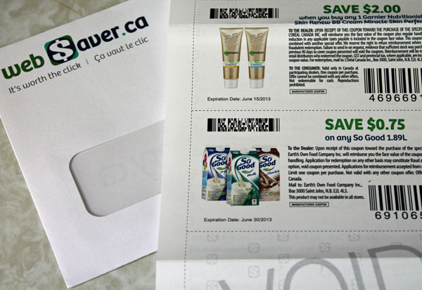 My Garnier coupon from Websaver.