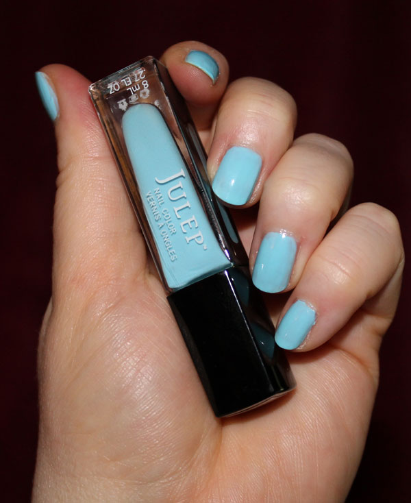 Robin egg blue nail polish from Julep.