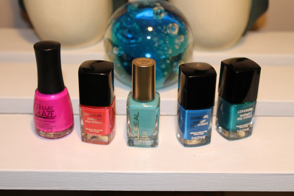 The nail polishes I used for my sunset gradient look.