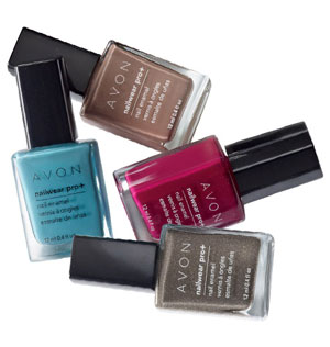 Fall colours from Avon's nail polish collection.