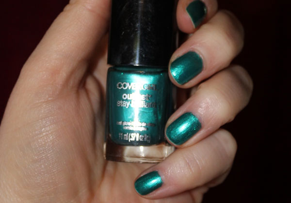 Rich green nail polish from Cover Girl.