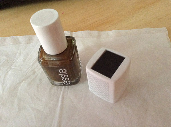 Removable cap from Essie nail polish.