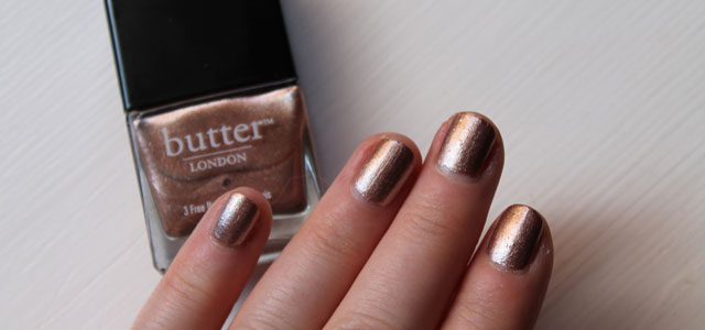 Rose champagne nail polish from Butter London.