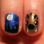 Easy werewolf nail art.
