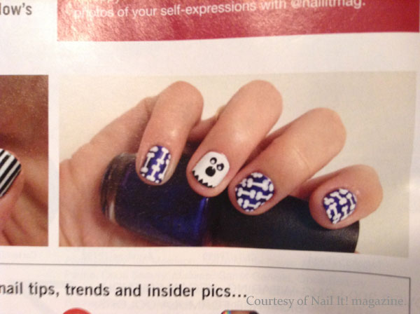 Ghost nail art from Nail It.
