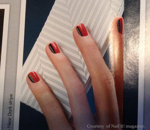 Photo of nail art from Nail It! magazine.