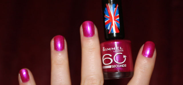 Testing out Rimmel London's polish for the first time.