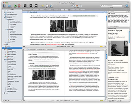 A screen capture of the Scrivener desktop view from my computer.