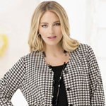 Houndstooth jacket from Ulla Popken.