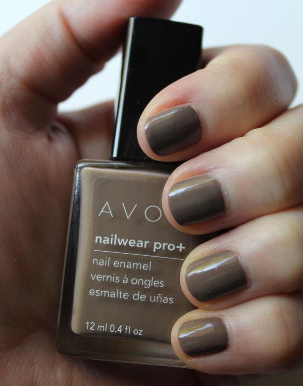 My nails with Avon's Untamed beige nail polish.