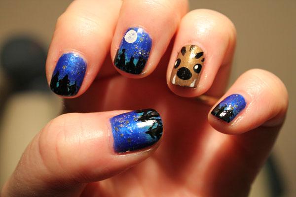 My attempt at werewolf nail art.