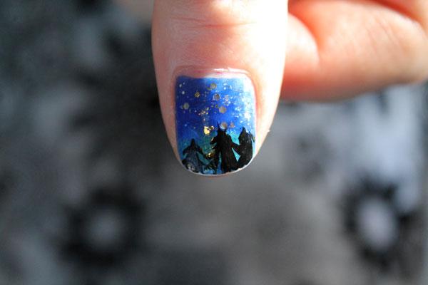 My sky view nail art.