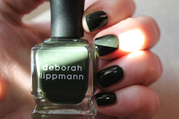 What my nails look like in direction sunlight -- more green.