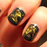 Take a look at my dry marble nail art.