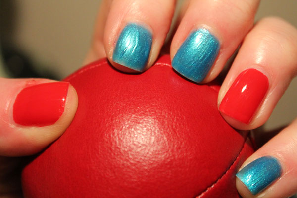 I paired it with a bright red accent on ring finger and thumb.