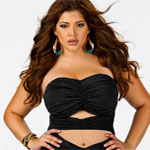 I love this black plus size cut-out swimsuit from Monif C.