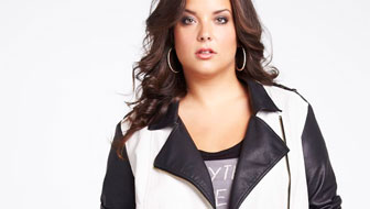 I love this black and white two tone jacket.