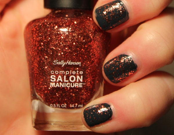 Julep's Josephine with one top coat of Sally Hansen's Copper Penny.