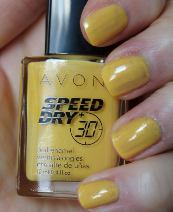 Two coats of Avon's Suddenly Sunny on my nails.