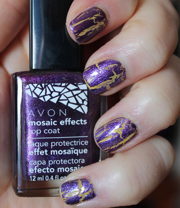 Followed by one top coat of Avon's Mosaic Effects in plum illusion.